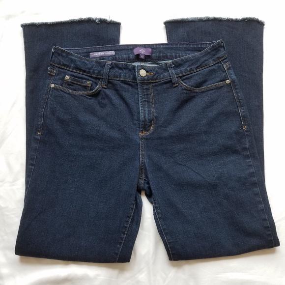 NYDJ Denim - NYDJ Farrah Flare Dark Wash Stretch Jeans Size 10